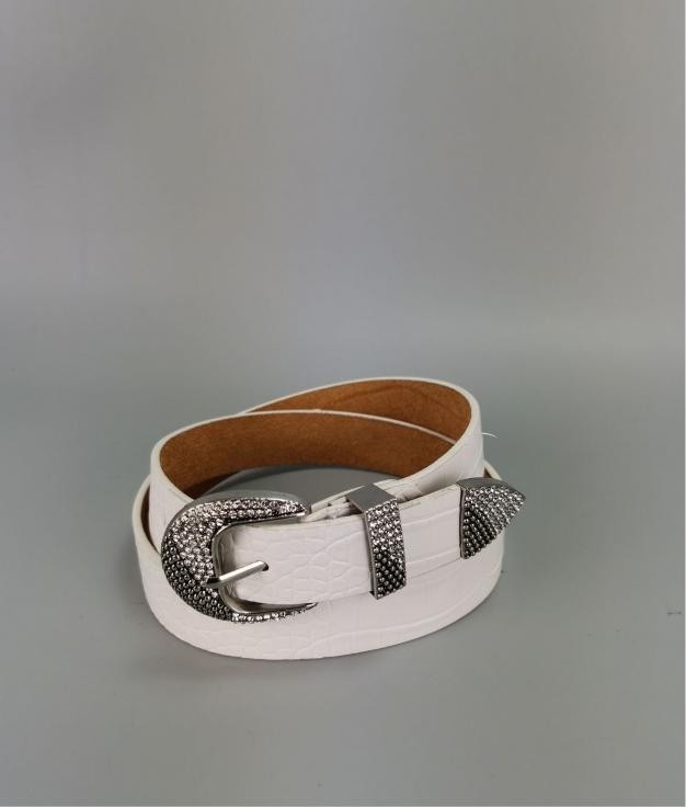 Cinturón Laura - blanco