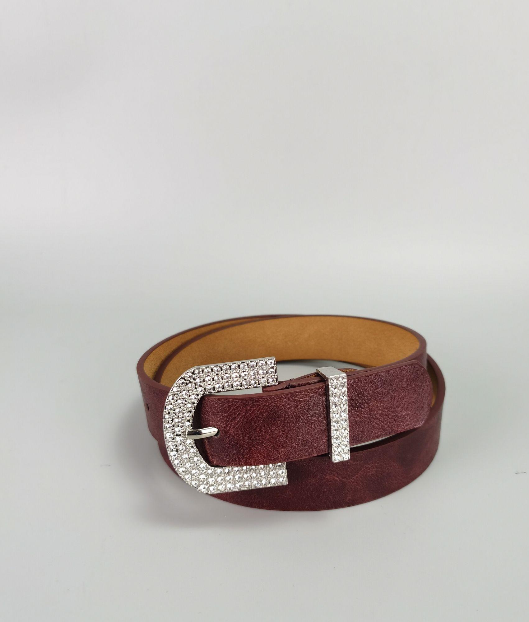 Belt Laura - garnet