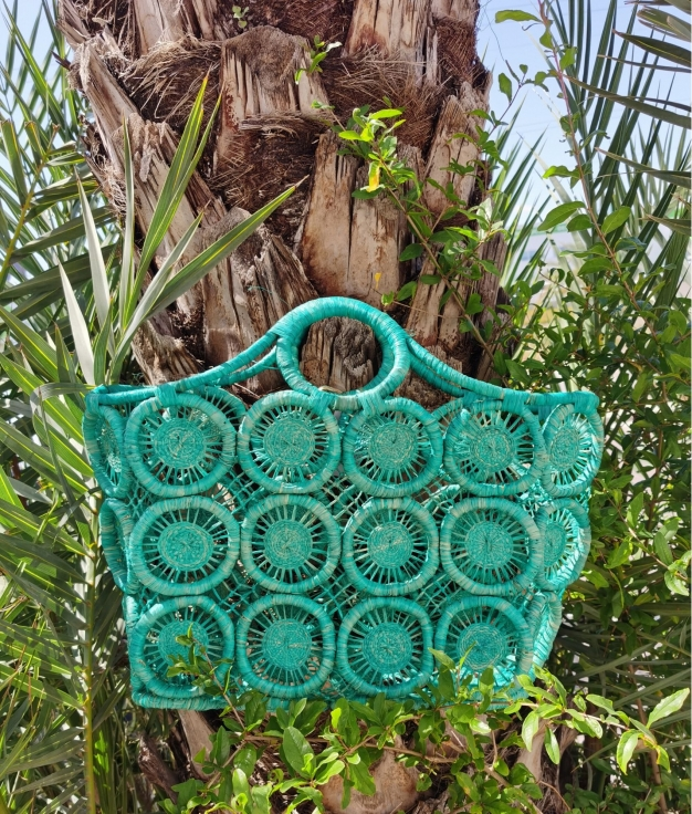 Wicker Basket Geova - verde