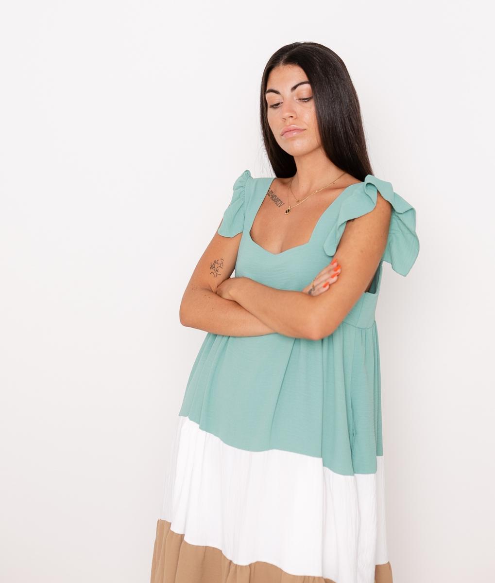 Vestido Tula - Aguamarina