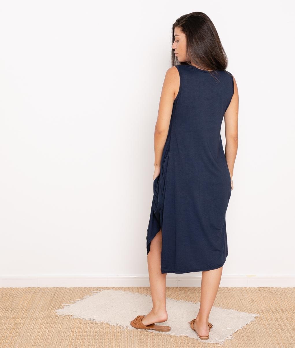 Vestido Ela - Azul Marino