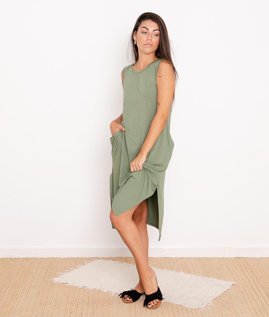 Vestido Ela - Kaki