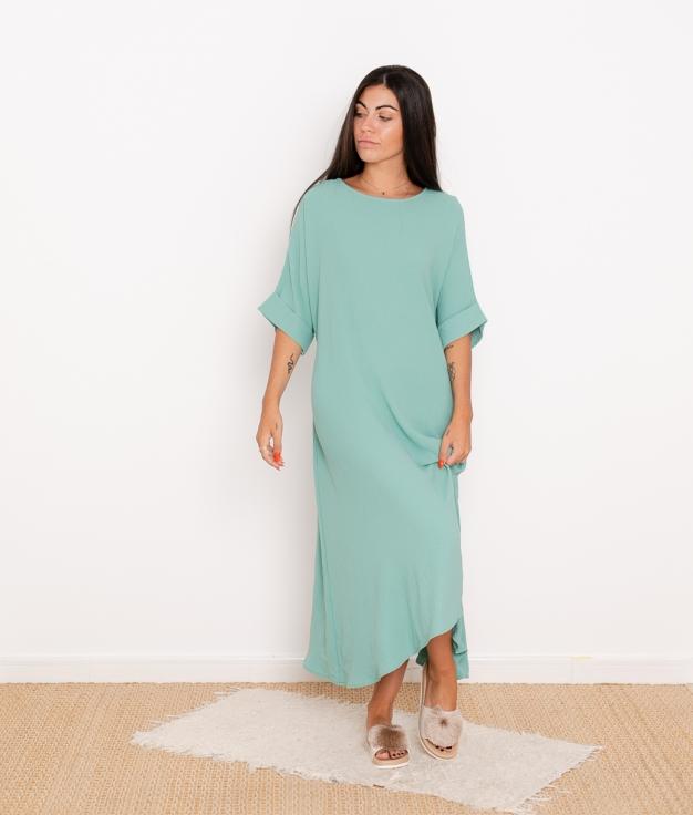 Vestido Kalai - Aguamarina
