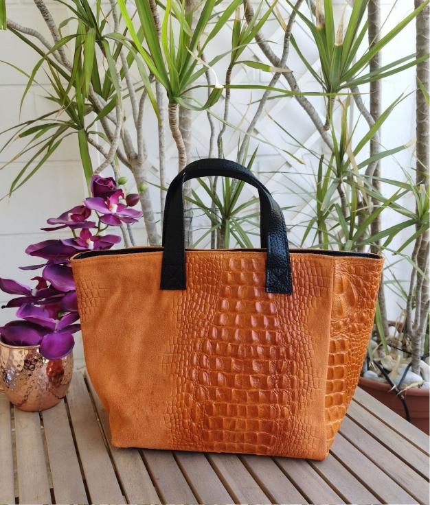 Leather bag Tesur - orange