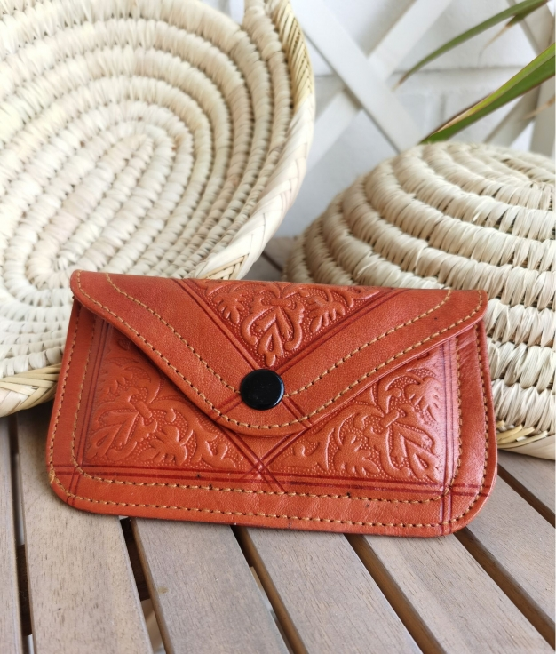 Leather coin purse Tiptop - camel