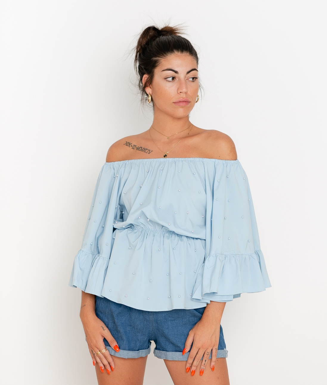 Blusa Perlani - Azul