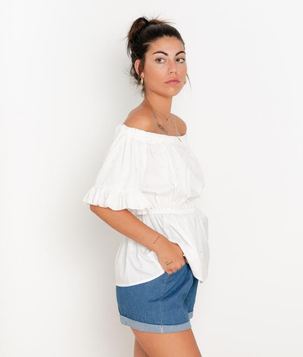 Blusa Aboca - Blanco