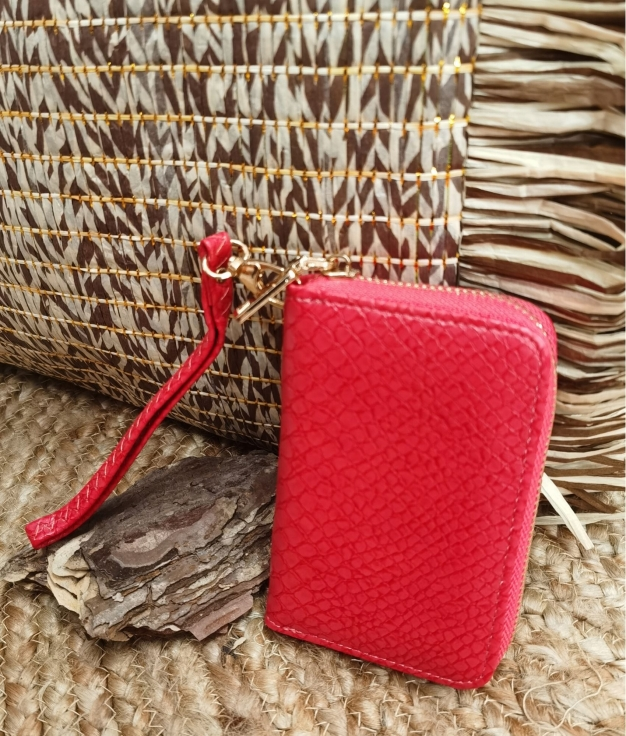 Ilary wallet - red