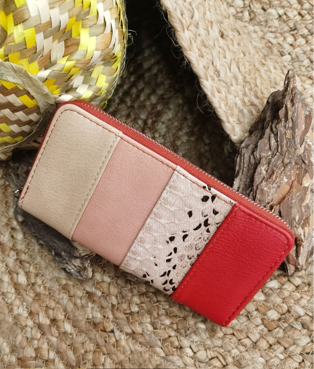 Lily wallet - red
