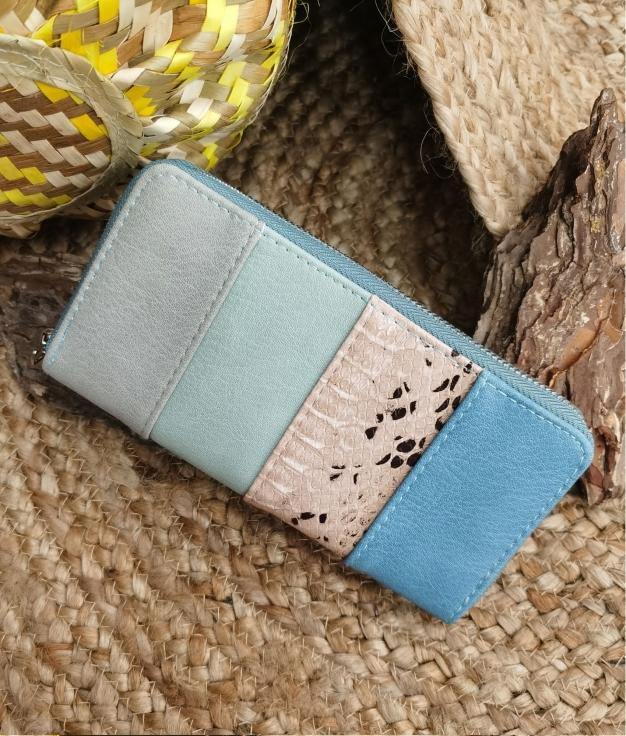 Portefeuille Lily - bleu clair
