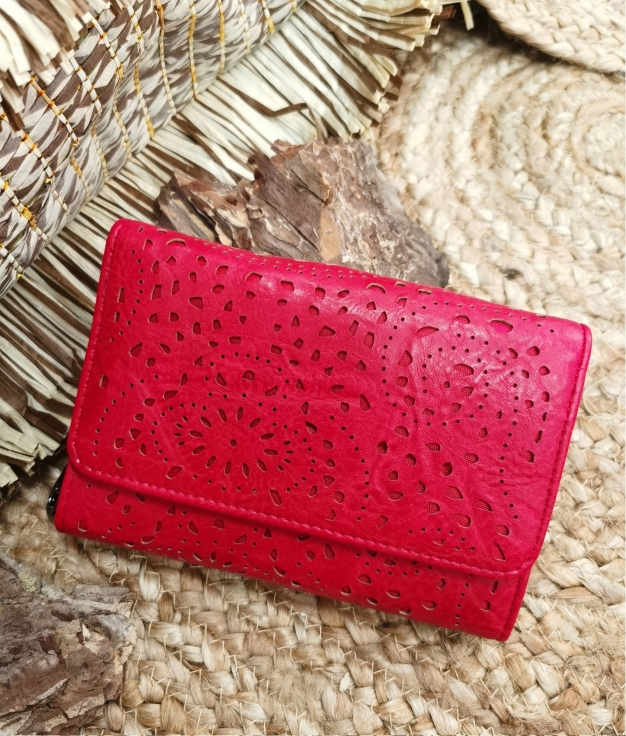 Lala wallet - red