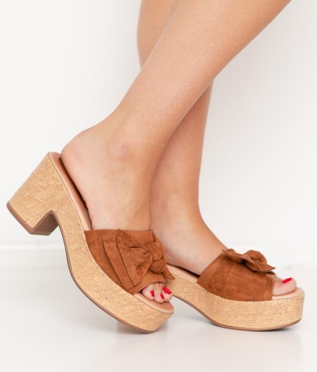 Sandalia de Tacón Neizan - Camel