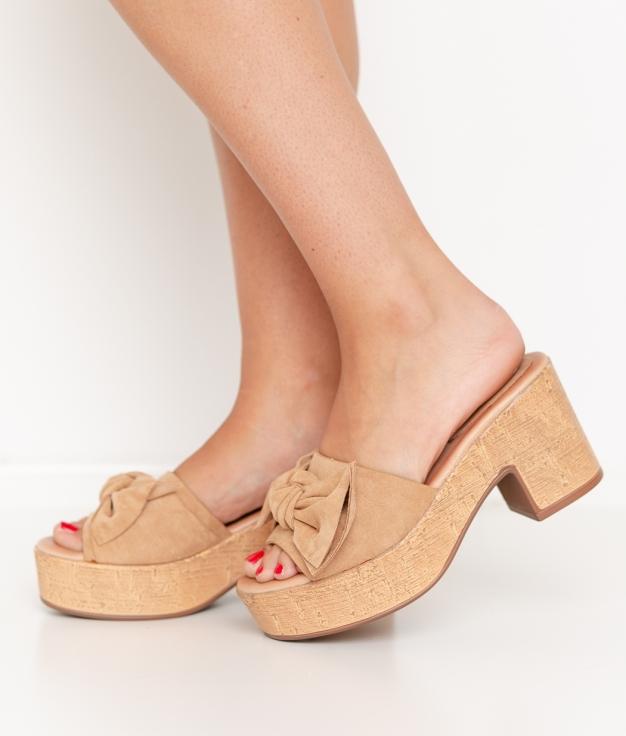 Sandalia de Tacón Neizan - Bege