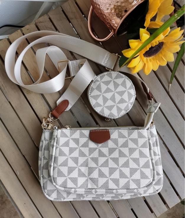 Trio shoulder bag - white