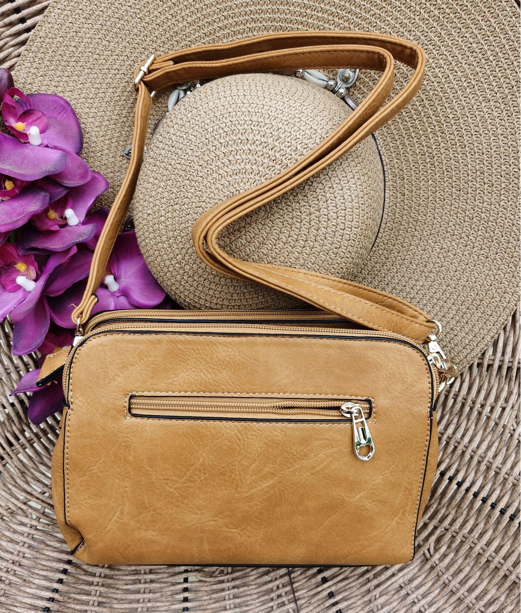 Shoulder Bag Roca - mustard