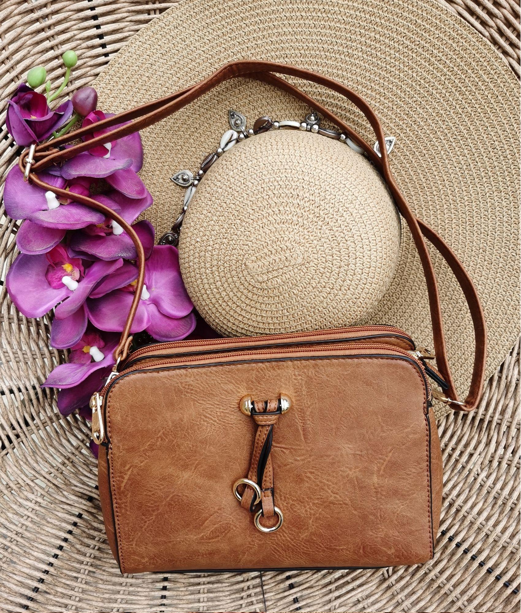 Shoulder Bag Roca - brown