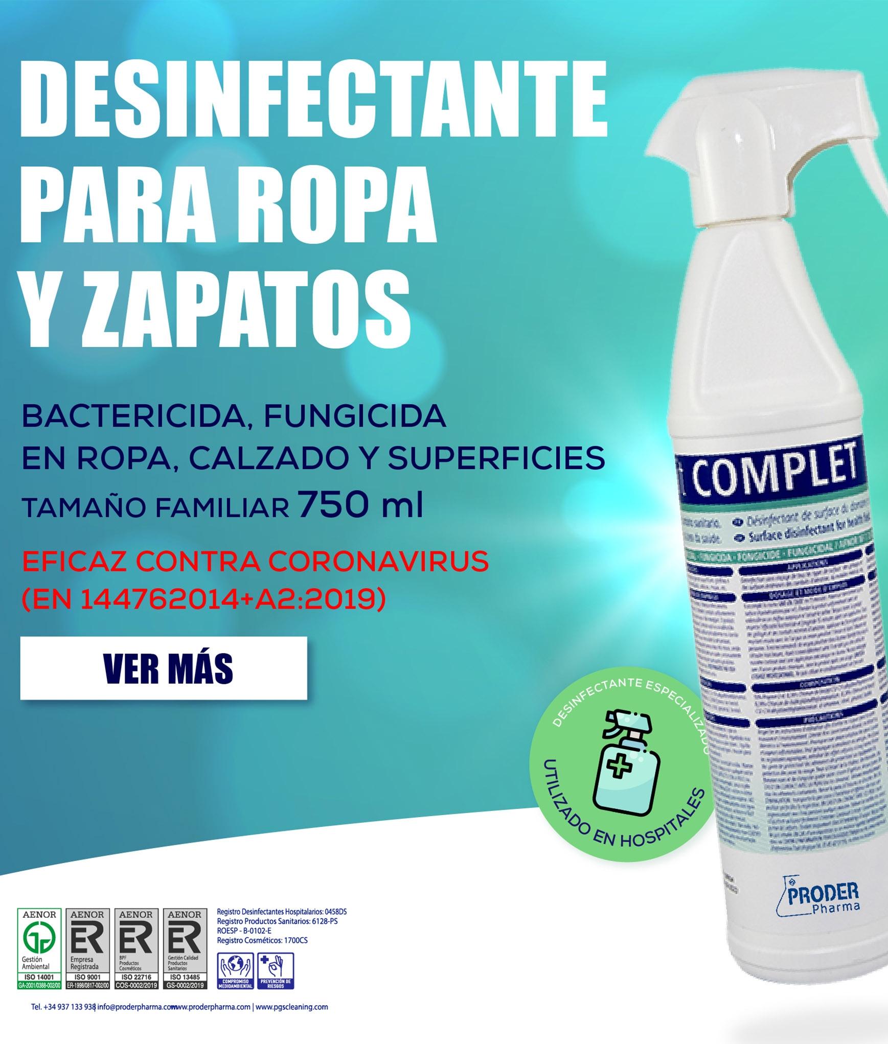 Desinfectante de Rppa y Calzado