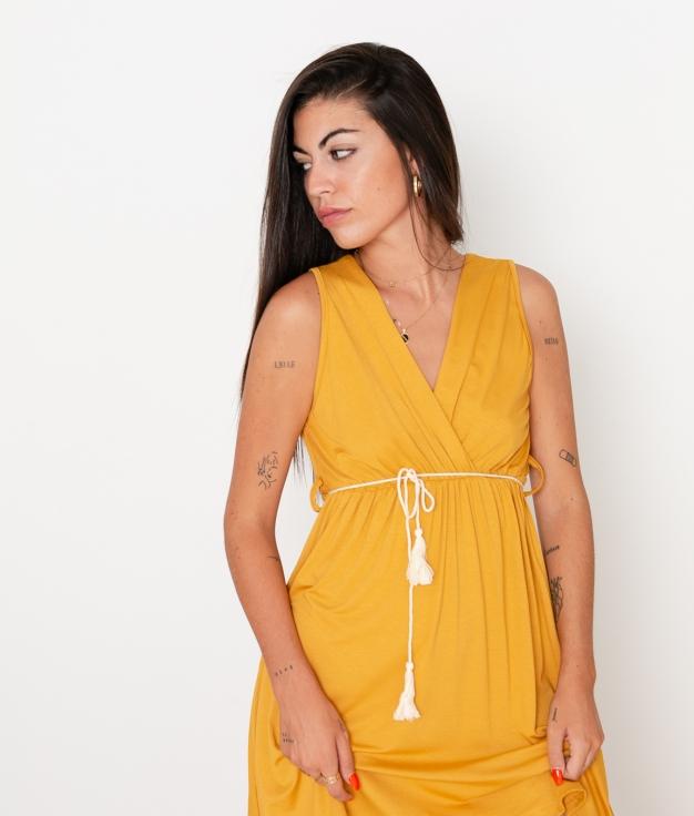 Vestido Melina - Mostaza