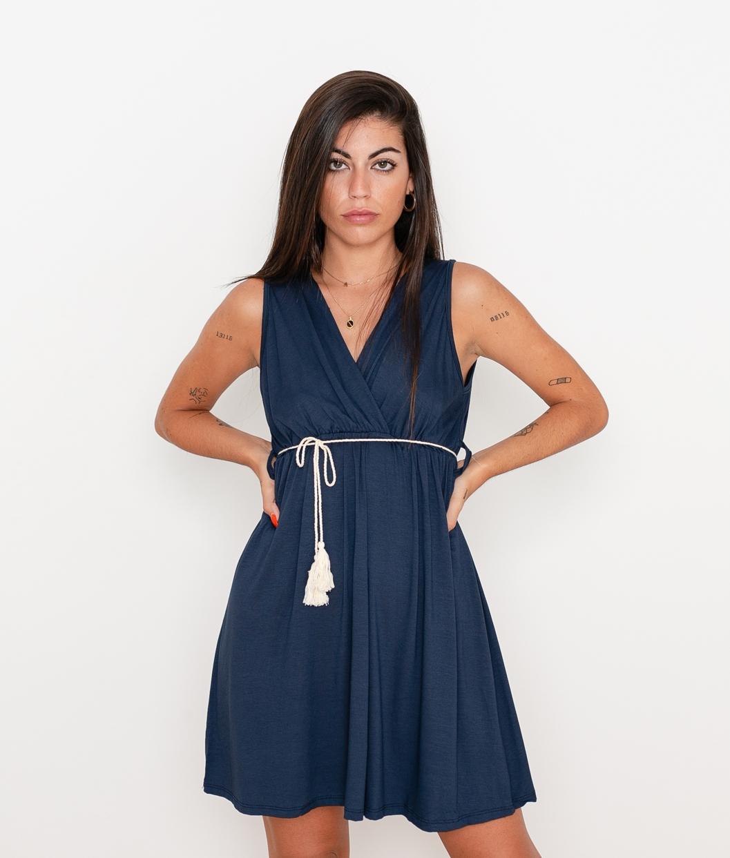 Vestido Melina - Azul Marino