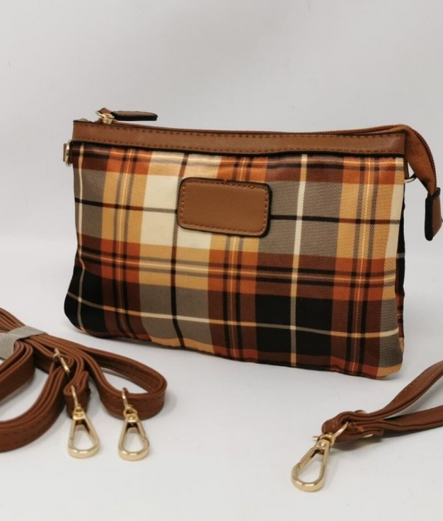 Kilt shoulder bag - Brown