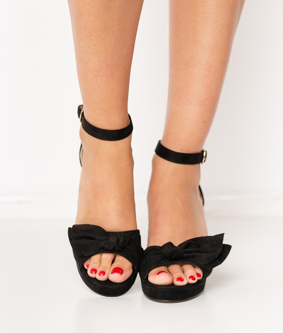 Sandalia de Tacón Pitosa - Negro
