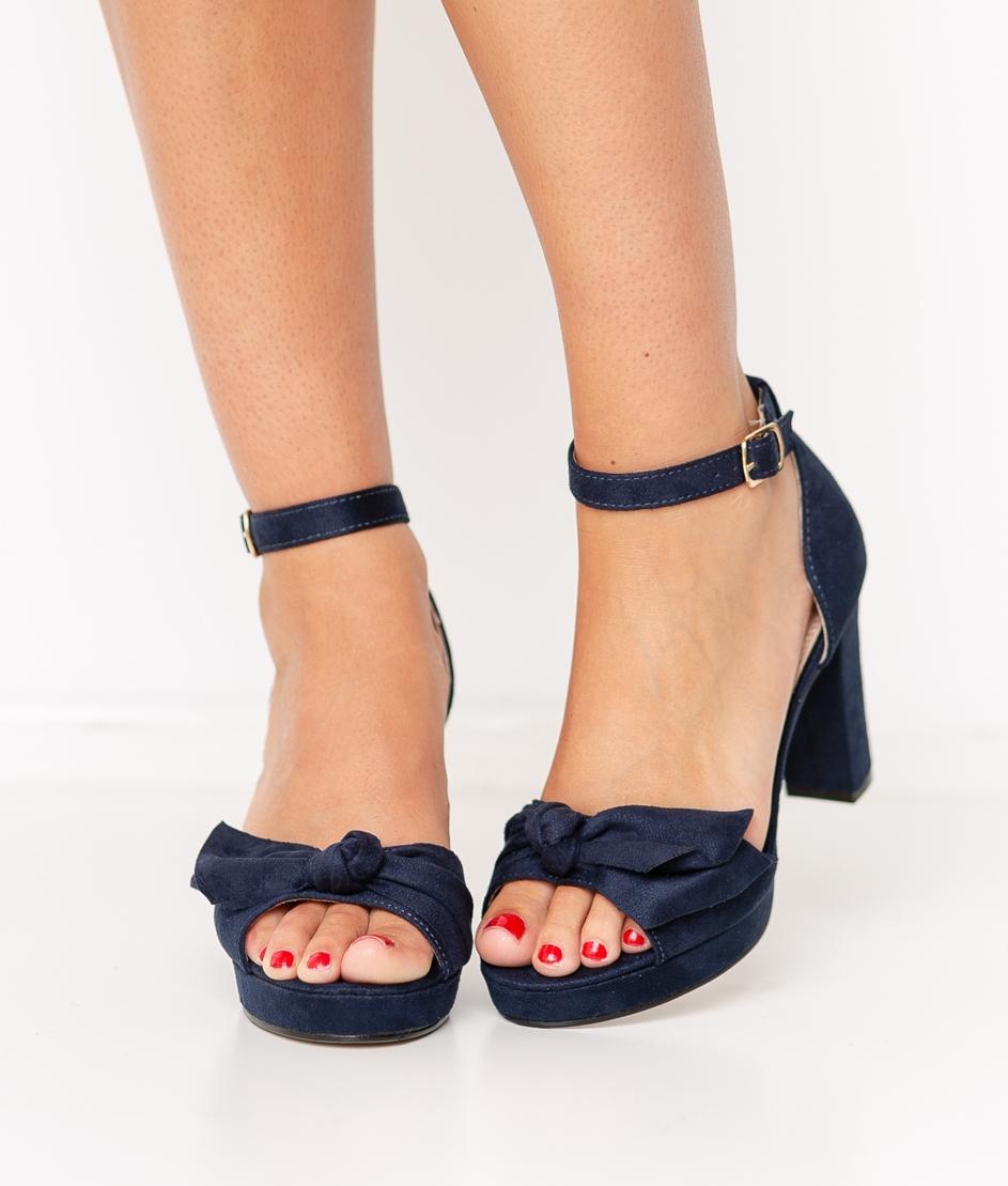 Sandalia de Tacón Pitosa - Azul