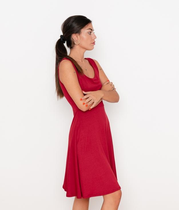 Vestido Renata - Granate