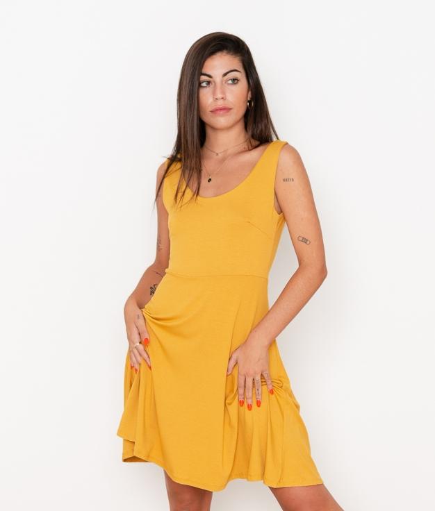 Vestido Renata - Mostaza