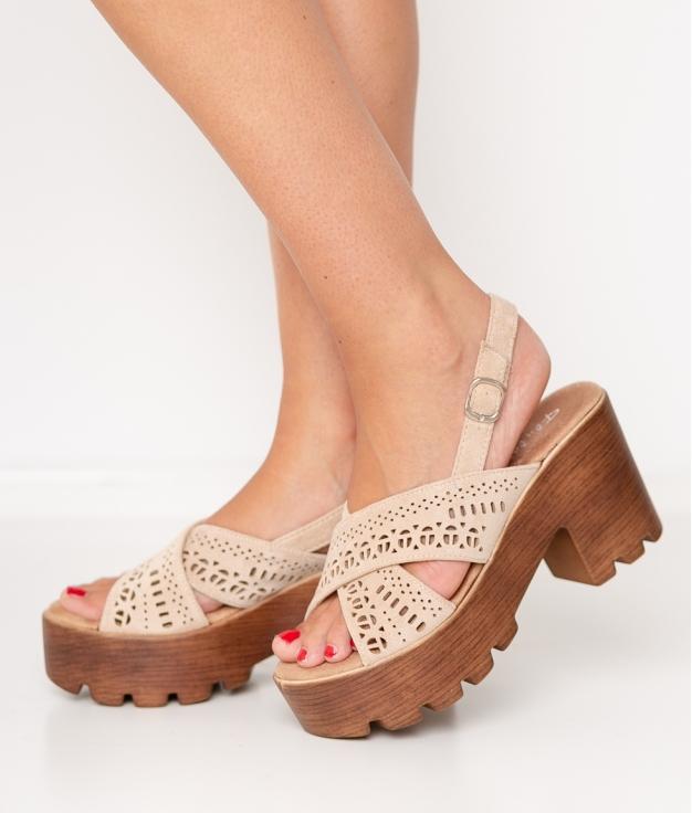 Sandalia de Tacón Marilen - Beige