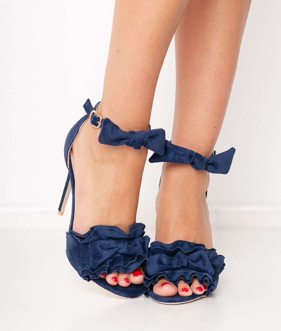 Sandalia de Tacón Yoin - Azul