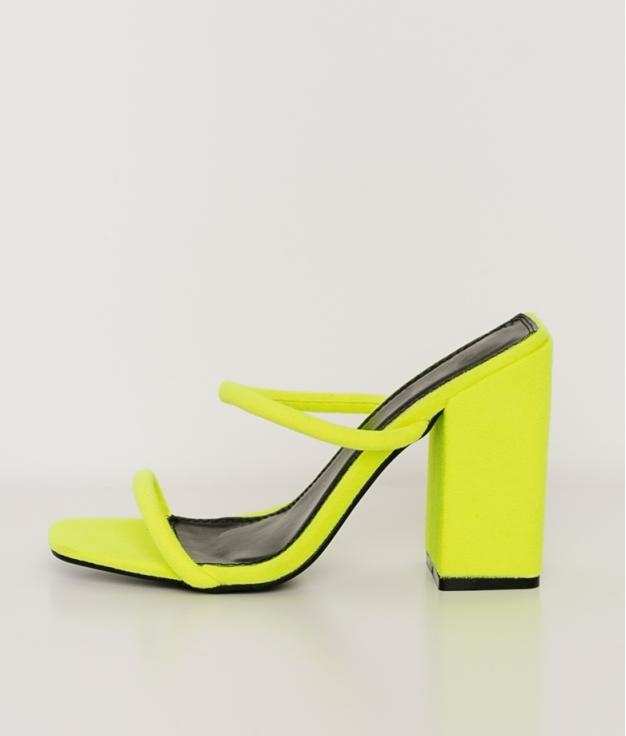 Sandalia de Tacón Neon - Amarillo