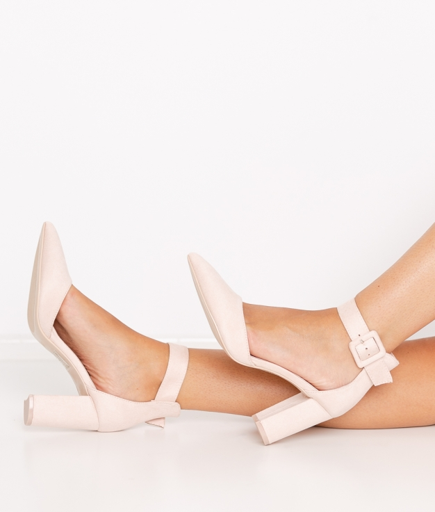 Zapato de Tacón Calfor - Beige