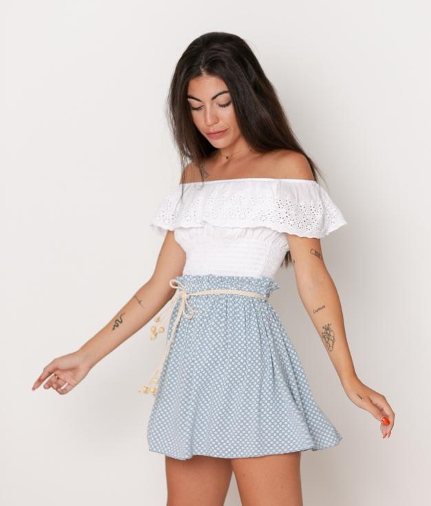Falda Nimri - Azul Claro