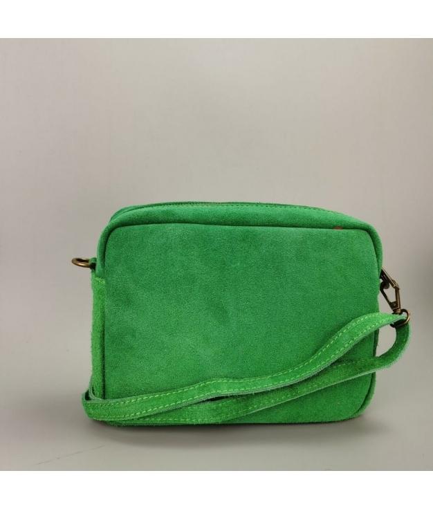 Bolsa crossbody em couro Valentina - verde
