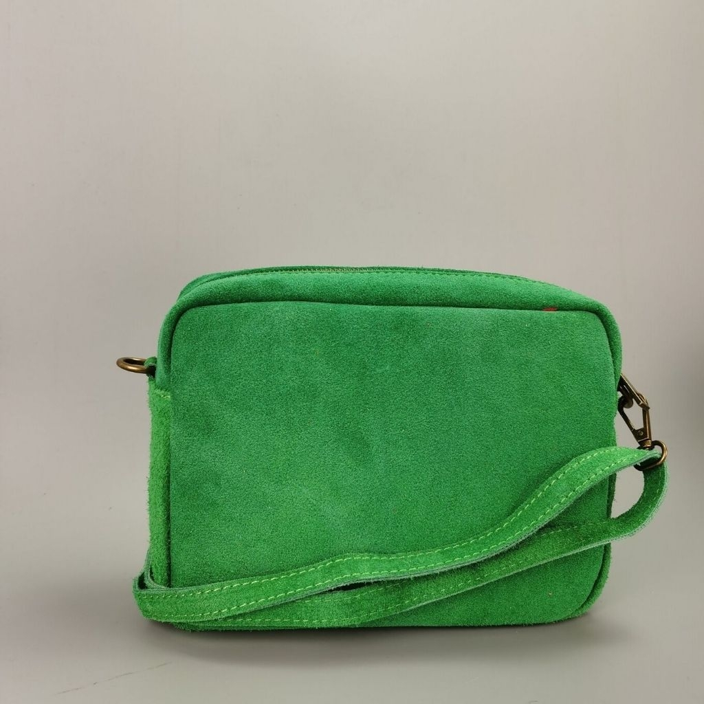 Leather crossbody bag Valentina - green