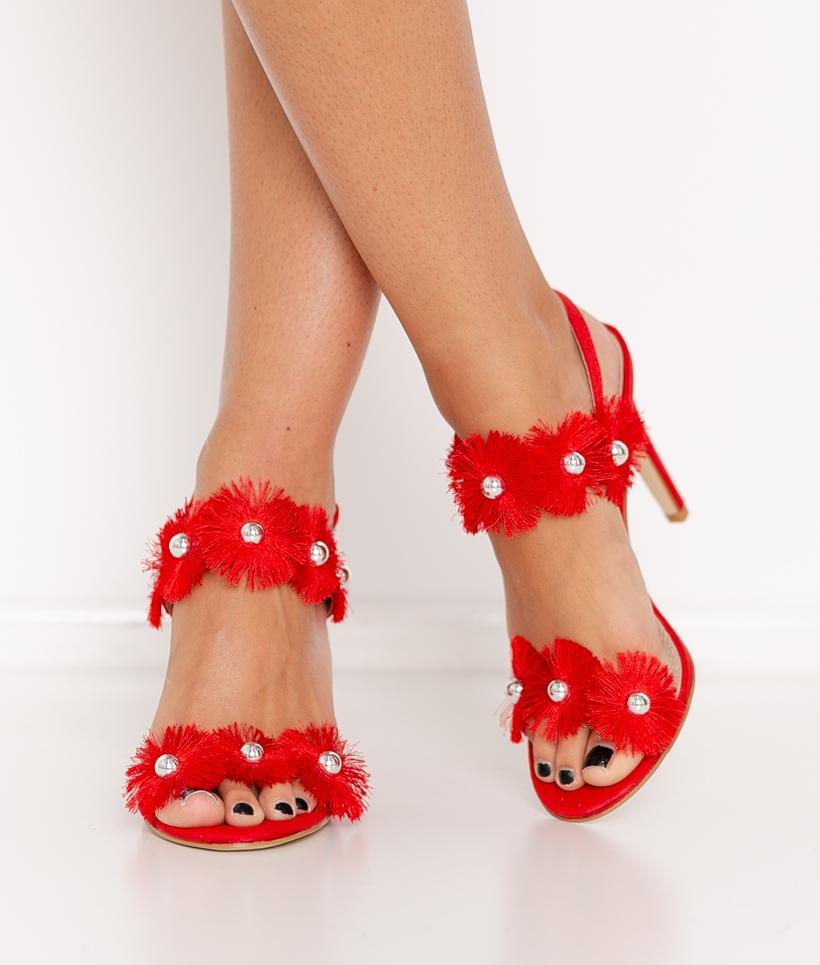 Zapato de Tacón Chachá - Rojo