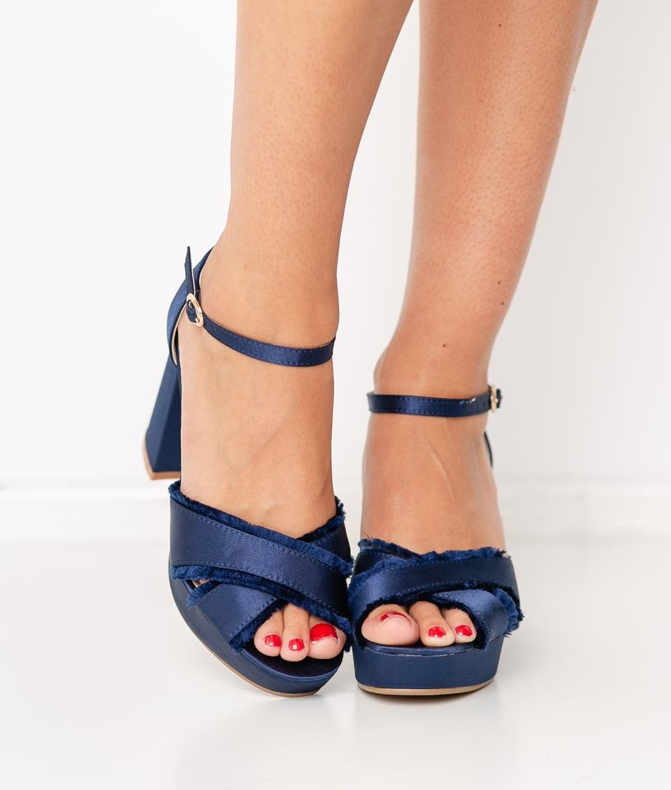 Sandalia de Tacón Entra - Azul