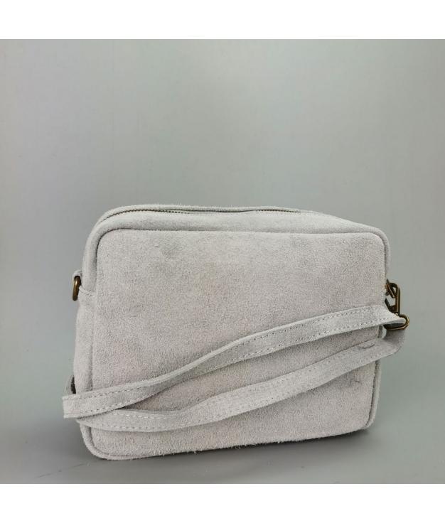 Bolsa crossbody em couro Valentina - branco
