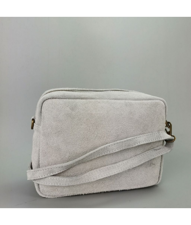 Leather crossbody bag Valentina - white