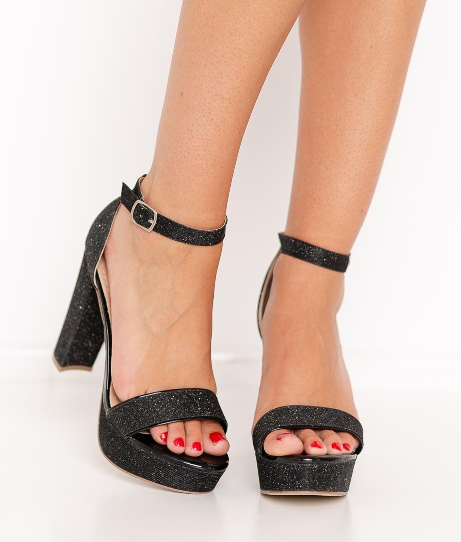 Sandalia de Tacón Gulia - Negro