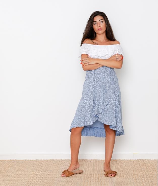 Falda Guedea - Azul Claro