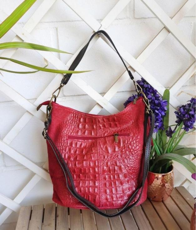 Bolsa Maxi - vermelho escuro