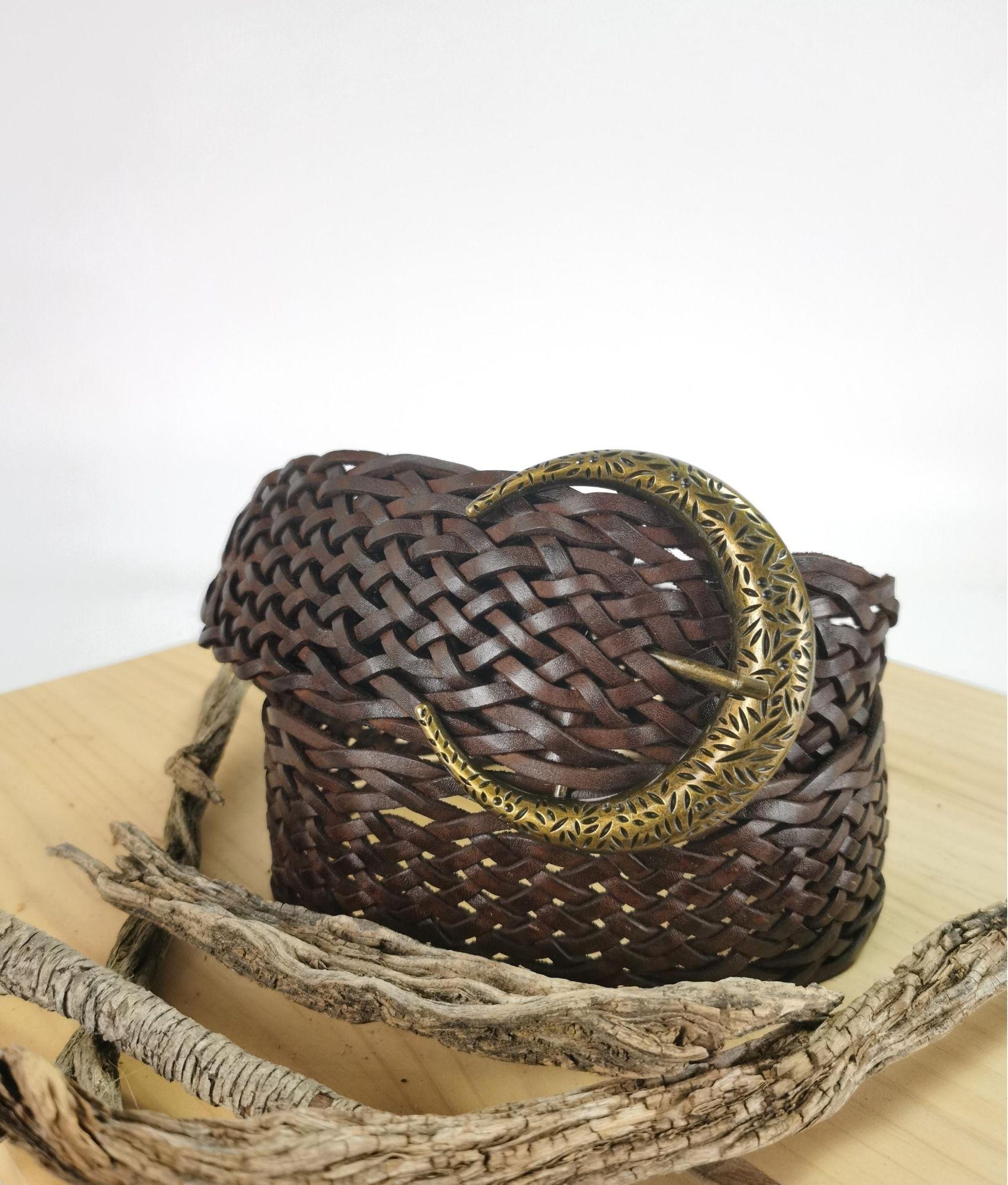 Cinturón Julia - castanho