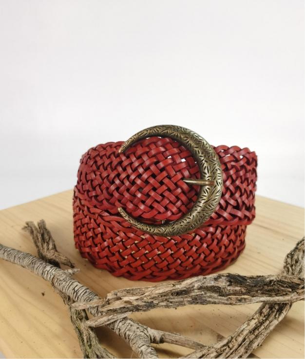 Julia belt - red