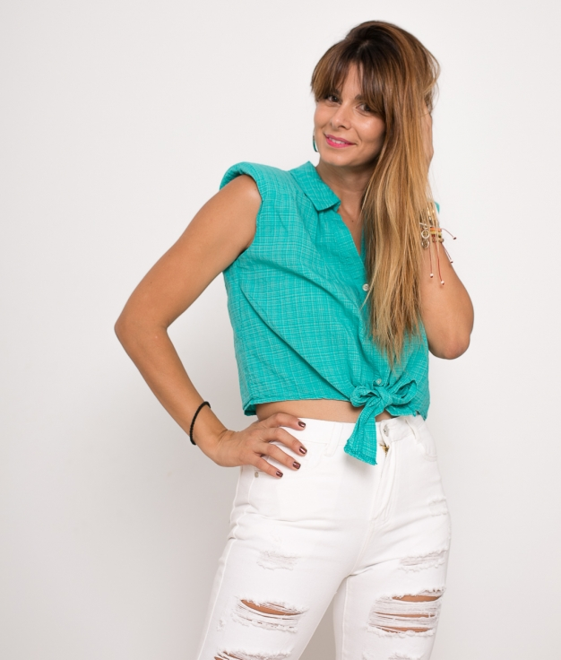 Blouse Nudet - Turquoise
