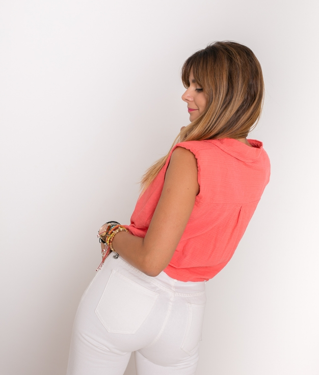 Blouse Nudet - Coral