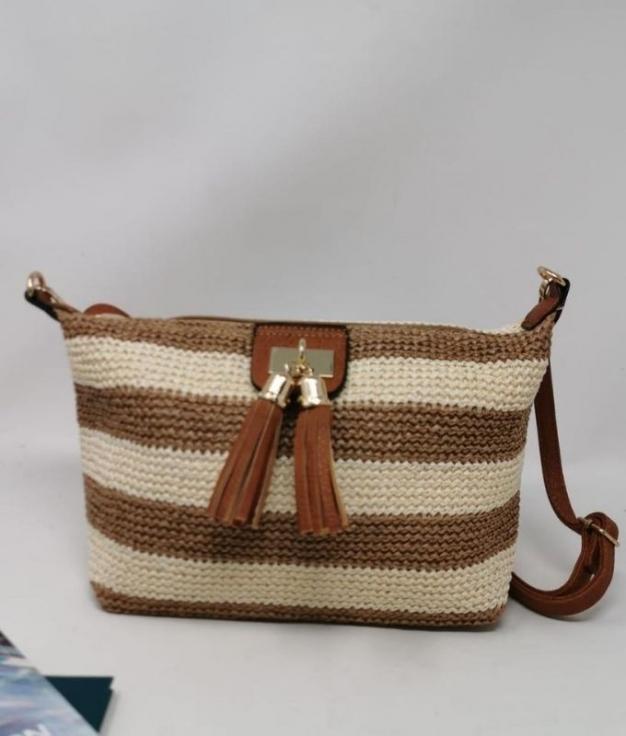 LETY BAG - BROWN WHITE
