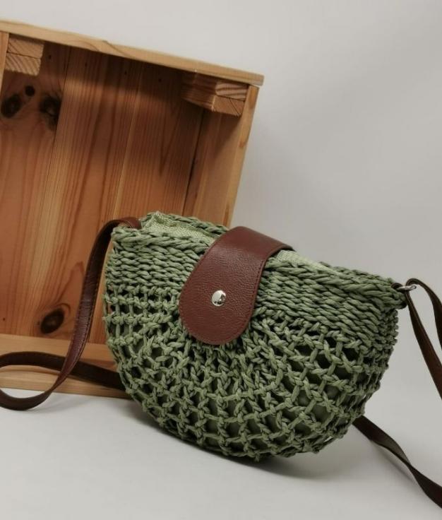 SEBA-GREEN ACROSS BODY BAG