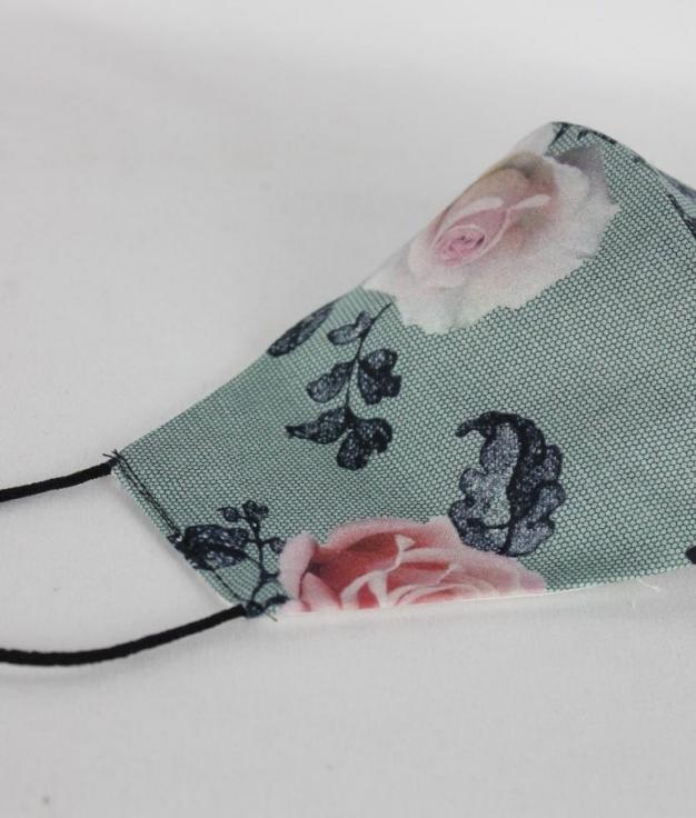 Mask Angela - Flower Gray