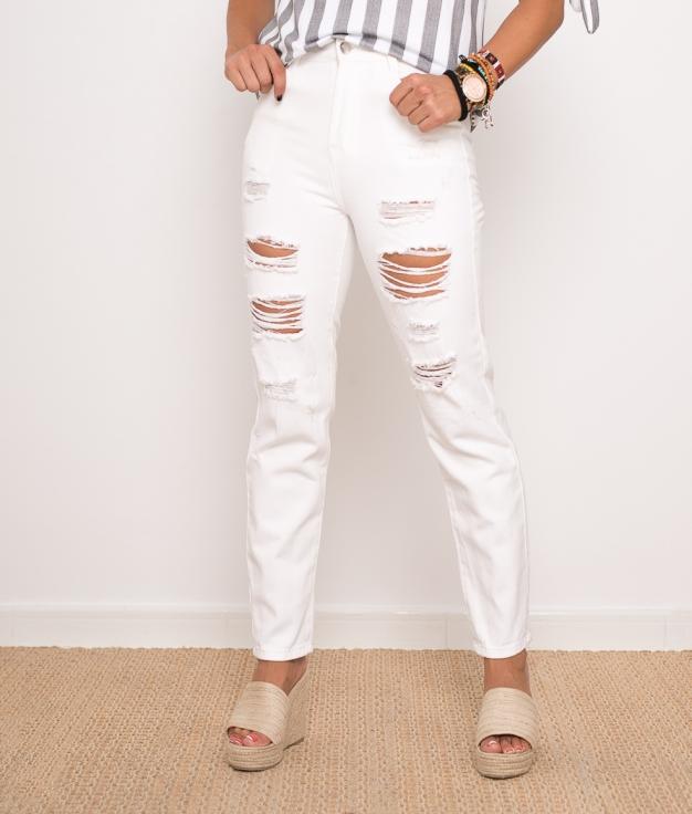 Pantalon Sasuke - Blanco